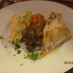 イタリア食堂USAGI - シェフの前菜盛り合わせ4種