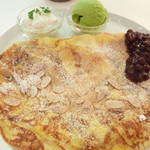 マーブルブランカフェ - 白玉マロンあずきフレンチクレープ