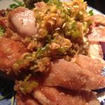 なっぱjuicy - 鶏のざくざく揚 ネギたっぷりソース