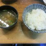 27267020 - ご飯&味噌汁