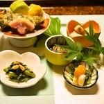 そば懐石 あずみ野 - 2014.5 前菜