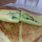 27288660 - 胡瓜とチーズのトーストモーニングセット\470