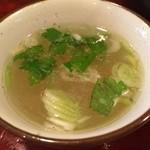 おんどり家 - ランチのスープ