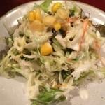 おんどり家 - ランチのサラダ