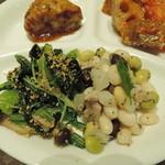 オーガニックハウス - 小松菜の胡麻和え・シチリア風豆のサラダ