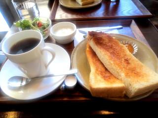 喫茶 アカリマチ 阿波座店 - モーニング(トーストセット)¥380→(2014/4~¥400)