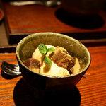 ハントコcafe - 黒糖わらび餅と醤油アイスのパフェ 650円