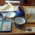そばきり長助 - 天ぷらもりそば(十割)