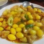 李園 - 鶏と銀杏の炒め物