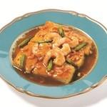 上海風3種海老の豆腐煮込み