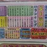 Yoidon - メニューの月間ランキング表。