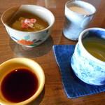 和くう燗 こころの舟 - 食前酒代わりの豆乳