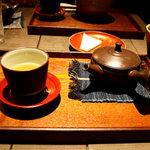 ハントコcafe - セットの玄米茶