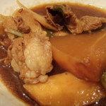 柳家 - 猪鍋(少し煮込んだもの)