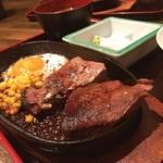 うみかぜ - 黒毛和牛のフレッシュレバーステーキ定食 1000円