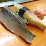 三松寿司 - こはだ、さば。