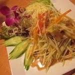プエンタイレストラン - ダイエット効果が期待されていると言われている青パパイヤのサラダ…ソムタム!女性に大人気‼︎