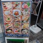 大漁市場 魚ます - 魚ますの看板byアライグマのニコちゃん好き
