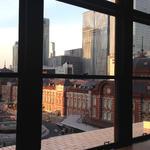 菜な - 窓から見える東京駅