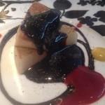 鉄板焼 天 本丸 - フォアグラ大根のバルサミコソース
