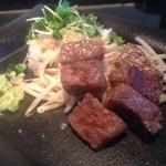 鉄板焼 天 本丸 - 黒毛和牛サーロインステーキ