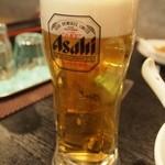 三代目 天竜 - ドリンク写真:とりあえず生ビール♪