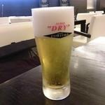 INSPA - 氷点下ビール、スーパードライエクストラゴールド 600円