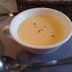 ストロベリーキャンドル - ランチのコーンスープ