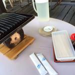 三瀬山荘ぢどり屋 - テーブルセッティング。