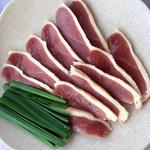 三瀬山荘ぢどり屋 - 合鴨のロース肉。