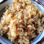 三瀬山荘ぢどり屋 - 地鶏のご飯。