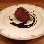 Ristorante SHIKAZAWA - 黒毛和牛。ストレートに美味。