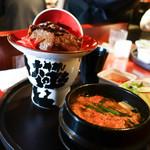 褓子器 - 正泰苑特製 極 焼肉ボウル スープ・キムチ・サラダセット