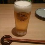 生ビールは小サイズ