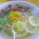 27337455 - 生姜ラーメン(大盛り)+鶏肉TP 730円