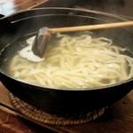 古波久 - 太麺釜揚げ(ランチ価格¥900)