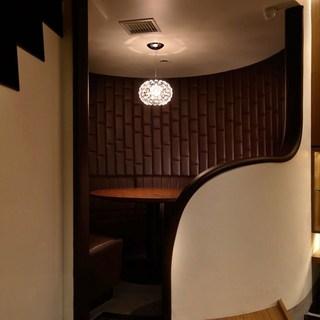 半個室なら、接待や会合の場としても利用価値大!