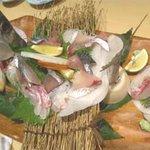 竹茂 - サバの刺身盛り