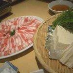 竹茂 - 黒豚しゃぶしゃぶ(鹿児島産純粋黒豚六白)