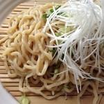 ラグタイム - 2014年4月訪問時:勝浦タンタンメン つけ麺(¥900)…麺が太いです!