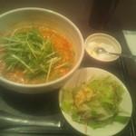 27341396 - ランチの麺セットから坦々麺\850(サラダ、デザート付)丼の直径19cm