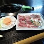 どんどこ湯 レストラン - 焼き肉定食(入浴付き\1580)肉以外はバイキング