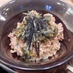 27344429 - ミニ酵母玄米高菜丼