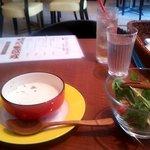 YEBISU DINING - ランチ(ドリンク・スープ・サラダ)(2014.5)