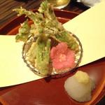 季彩 かがり - たらの芽天ぷら