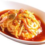 ワンフー - 料理写真:とろ~り甘酢の天津飯