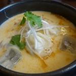 ホワイト餃子 はながさ - (2014/4月)「(高麗鍋の冷やし版)冷麺入り冷やし餃子パイタン」