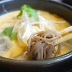 ホワイト餃子 はながさ - (2014/4月)「(高麗鍋の冷やし版)冷麺入り冷やし餃子パイタン」の麺