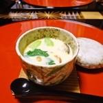 御料理 みつ乃家 - 茶碗蒸し 蓮芋 鯛 穴子 三ツ葉