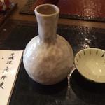 重吉 - ぬる燗は味のあるお銚子出提供
